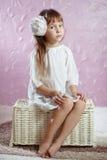 Mini miss. Studio portrait of cute mini miss Stock Photography