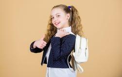Mini mochila elegante El peque?o cutie de moda de la muchacha lleva la mochila Colegiala con la peque?a mochila de cuero Lleve el fotografía de archivo libre de regalías