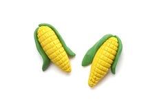 Mini modèle de maïs d'argile photographie stock libre de droits