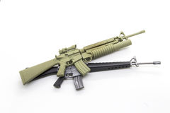 Mini model gun Royalty Free Stock Photos