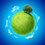 Mini modello di concetto del pianeta. Uno dall'accumulazione. Fotografia Stock Libera da Diritti