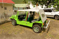 A mini-moke in the caribbean Stock Images