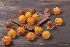mini molletes deliciosos del sabor del chocolate imagen de archivo libre de regalías