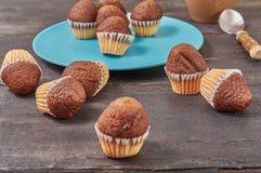 mini molletes deliciosos del sabor del chocolate fotografía de archivo