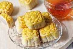 Mini mooncake, bolo tradicional chinês imagem de stock royalty free