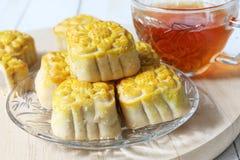 Mini mooncake, bolo tradicional chinês imagem de stock