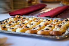 Mini moravian cake on a silver tray Royalty Free Stock Photo