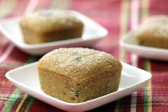 Mini mordeduras de la torta de la Navidad Foto de archivo