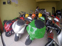 Mini motocicleta Imagen de archivo libre de regalías