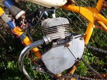 Mini motor de la bici Imagen de archivo libre de regalías