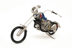 Mini motorcycle made from wire Royalty Free Stock Photo