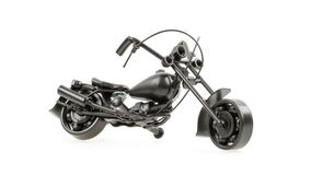 Mini motorcycle made from wire and different motorcycle parts Royalty Free Stock Photography