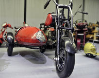 Mini motorcycle. Toy miniature motorcycle manual work at the exhibition Stock Image