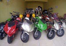 Mini- motorcykel Arkivfoton