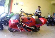Mini- motorcykel Fotografering för Bildbyråer