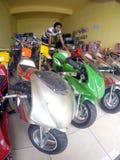 Mini- motorcykel Arkivbilder