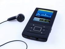 Mini MP3 przenośnego urządzenia muzyka Obrazy Royalty Free