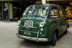 Mini MPV Fiat 600 Multipla. BERLIN - JUNE 14, 2015: Mini MPV Fiat 600 Multipla. The Classic Days on Kurfuerstendamm stock photos