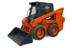 Mini máquina escavadora alaranjada da roda Imagem de Stock