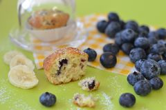 Mini Muffin With Blueberries And Banana