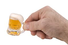 Mini Mug of beer Royalty Free Stock Image