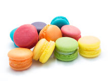 Mini Multi-Colored Macaroon. On white isolated background Stock Images