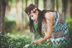 Mini native american Indigenous concept Royalty Free Stock Image
