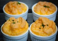 Mini śniadaniowy omletu souffle obraz royalty free