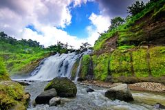 Mini Niagara Waterfall - Jepara. Kedungbobot waterfall, placed in Jepara, Central Java, Indonesia. The visitors usually name it as Mini Niagara Stock Image
