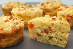 Mini nourriture de doigt de Frittata Photo stock