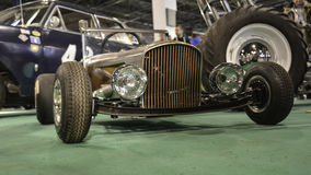Mini old timer car. 11th Car and Motorcycle Tuning Show in Hungexpo, Budapest, Hungary. Photo taken to: March 19th, 2016 Royalty Free Stock Photography