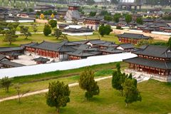 The mini old town in Daming Palace was the imperial palace complex of the Tang Dynasty, Xian China Stock Images