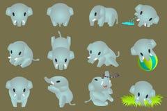 Mini olifanten stock illustratie