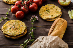 Mini omelets crunchy pastry Royalty Free Stock Image