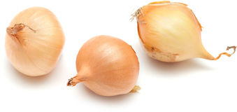 Mini onions  on white Stock Image