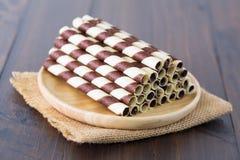 Mini opłatkowy czekoladowy kij Obraz Stock
