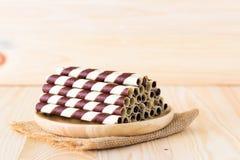 Mini opłatkowy czekoladowy kij Zdjęcia Stock