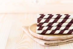 Mini opłatkowy czekoladowy kij Obrazy Stock