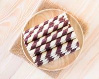 Mini opłatkowy czekoladowy kij Zdjęcia Royalty Free