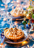 Mini orange curd tartlets Stock Images