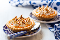 Mini orange curd tartlets Royalty Free Stock Photo