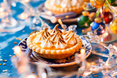 Mini orange curd tartlets Royalty Free Stock Image