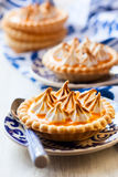 Mini orange curd tartlets Stock Images