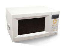 Mini oven over white Royalty Free Stock Image