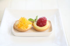 Mini owocowy tarta Fotografia Stock