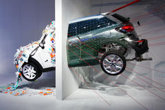 Mini Paceman exhibition at Fuorisalone Stock Image