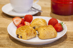 Mini Pain au Chocolat Royalty Free Stock Photography