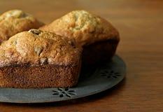 Mini pan de la viruta de chocolate del plátano - 4 Fotos de archivo libres de regalías