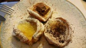 Mini pancake olandese del bambino Fotografia Stock Libera da Diritti