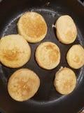 mini pancakes stock photos